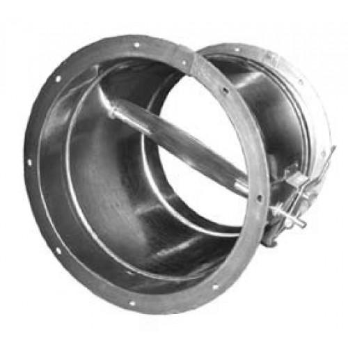 Клапан обратный круглый взрывозащищенный ф 400 оц.ст. фланцевое соединение